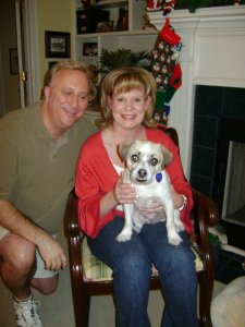 Chief with his mom and dad makes holiday visits