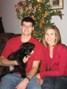 Mike, Joanna, and Baxter