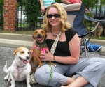"Erin, and her new mom and dog sibling, Penny. Another happy ""I failed fostering 101"" family!"