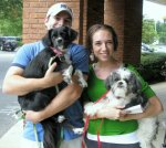 Repeat adopters with Savannah (left) and Dimaggio (originally Chupon).